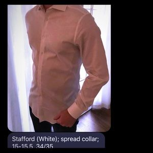 Men's Spread Collar Dress Shirt